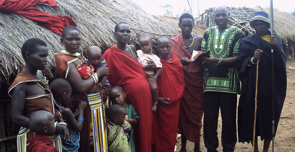Pastor Tom establishing a  new church among Maang'ati Tribe in Morogoro, Tanzania