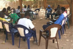 Bible study with the youth in Senegal