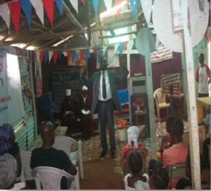 Pastor Joseph Fallah teaching the students from the Word of God