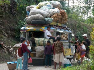 Jeepney in the Philippines loaded with medicines and food supplies for Mission Smile; a successful project LIFE Aid Foundation helped make possible.