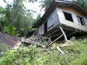Collapse of a neighbor's house.