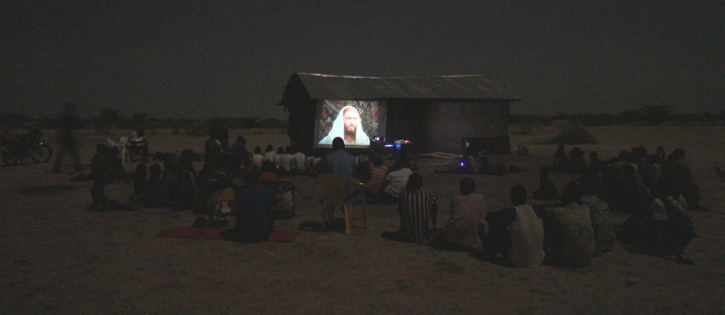 Jesus Film presented in the village