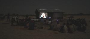 Jesus Film presented in the village