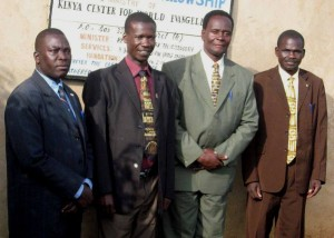 PASTOR SIMON MACONYANGO (SEC. FROM LEFT) AND BOARD MEMBERS