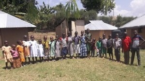 Orphans at the children's home