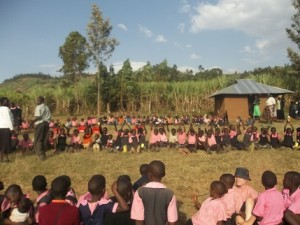 Orphans taking a break at School with their friends