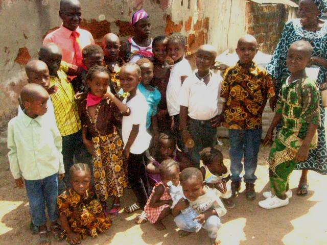 PASTOR EMMANUEL WITH THE ORPHANS