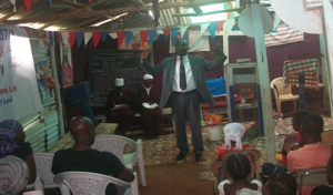 Pastor Joseph Fallah teaching the students