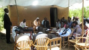 Bro. Simon teaching first church plant in Nakhwana western Kenya