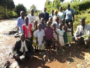 First house church in Kisii near Nyamarambe after baptismal service