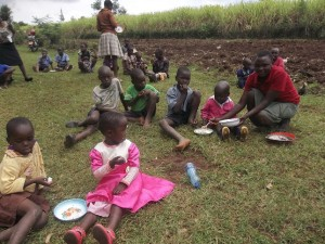 Orphans eating together