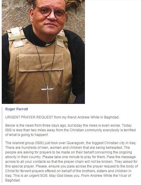Urgent prayer for Christian city in Iraq