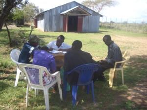 Youth Bible study at Oloototo Maasai village Church