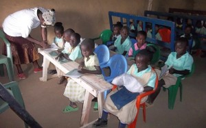 Children doing their studies at school