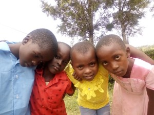 Orphans being very happy