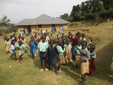 Orphans going back to school from taking their lunch meal at Joe's house