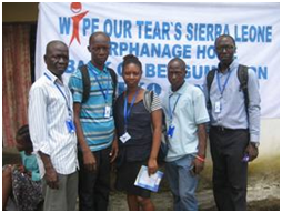 Staff at Wipe Our Tears Sierra Leone