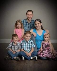 Josh, Rachel, and family (Angelia on left in pink)