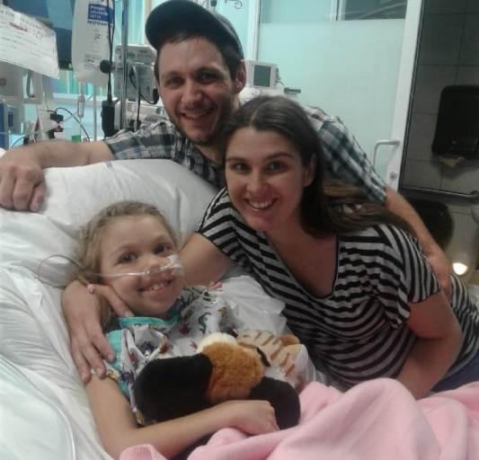 May 5, 2019  Angelia, Josh, Rachel happy breathing tube taken out.