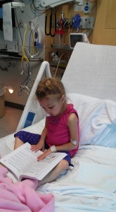 May 9, 2019 Reading her Bible in her new room