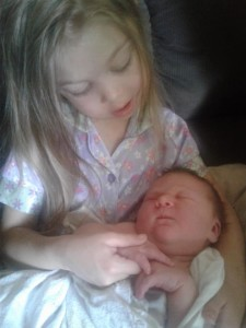 Angelia and baby Arukah